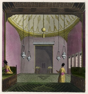 Турецкий интерьер (из работы Джулио Феррарио Il costume antico e moderno, o, storia... di tutti i popoli antichi e moderni, изданной в Милане в 1816 году (Европа. Том I))