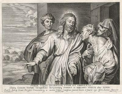 """""""Иисус говорит ему: встань, возьми постель твою и ходи"""" (Ин 5:8). Исцеление расслабленного кисти Антониса ван Дейка."""