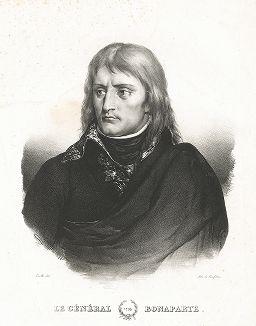 Генерал Бонапарт в 1799 году. Портрет работы Иоганна Алоиза Зенефельдера, изобретателя техники литографии.