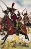 Конные егеря французской императорской гвардии атакуют в сражении при Аустерлице 5 декабря 1805 г. Коллекция Роберта фон Арнольди. Германия, 1911-29