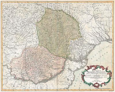 Карта Молдавии и Валахии по подлинным квартирмейским чертежам и наблюдениям астрономическим в оных странах учинённым.