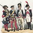 Costumes de l'armée française