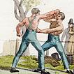 Кулачные бои, бокс и борьба